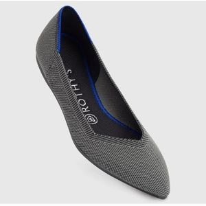 Rothy's Cloud Grey Solid Pointed Toe Flat Size 5.5